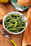 Boiled green beans Royalty Free Stock Photography