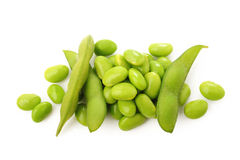 Boiled green soy beans Royalty Free Stock Photo