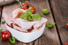 Boiled Ham (close-up shot) Stock Photos