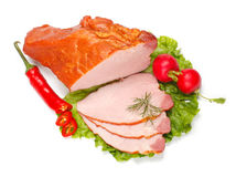 Boiled ham and vegetables Stock Image