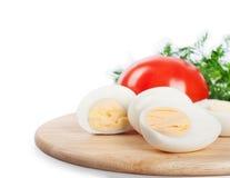 Boiled hen eggs Stock Images
