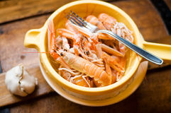 Boiled langoustines Royalty Free Stock Photography