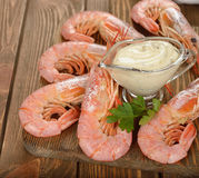 Boiled langoustines Stock Image