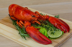 Boiled lobster Stock Photo