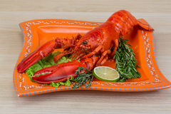 Boiled lobster Royalty Free Stock Photography