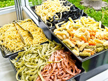 Boiled macaroni and pasta prepared for cooking Royalty Free Stock Photography
