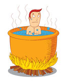 Boiled man. Illustration of a boiled man. Available in vector eps 10 file Royalty Free Stock Image