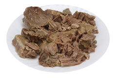 Boiled meat of beef Stock Photography
