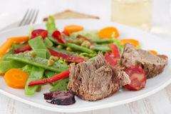 Boiled meat with sausages Royalty Free Stock Images