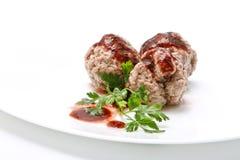 Boiled meatballs Stock Photos