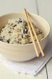 Boiled Mixed Rice Stock Photo