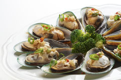 Boiled mussels Royalty Free Stock Image