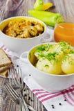 Boiled new potatoe Stock Image
