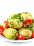 Boiled new potatoes Stock Images