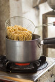 Boiled noodles Stock Photography
