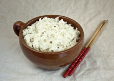 Boiled oval  rice Royalty Free Stock Image