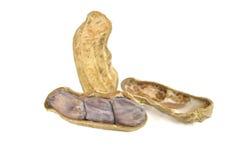 Boiled peanut on white background Royalty Free Stock Image