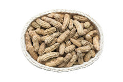 Boiled peanuts in basket Royalty Free Stock Image