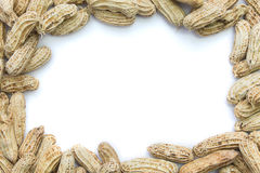 Boiled peanuts frame Royalty Free Stock Images