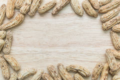 Boiled peanuts frame Stock Photos