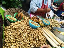 Boiled peanuts. Boiled peanut cart at fresh Royalty Free Stock Photos