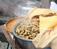 Boiled peanuts Stock Images