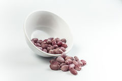 Boiled Peanuts. On white background Royalty Free Stock Images