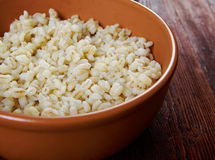 Boiled pearl barley Royalty Free Stock Photography