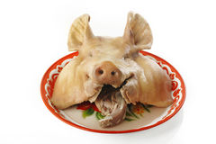 Boiled pig head Royalty Free Stock Photography