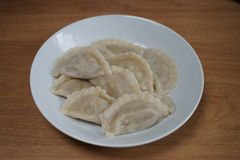Boiled polish pierogs Royalty Free Stock Images