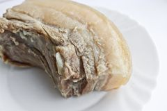 Boiled pork lard with ribs. Nutritional meals stock photography