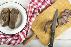 Boiled pork tongue Stock Image