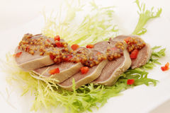 Boiled pork tongue Royalty Free Stock Photo