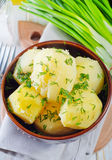 Boiled potato Stock Image