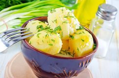 Boiled potato Stock Photography