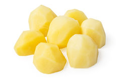 Boiled potato pieces Stock Photography
