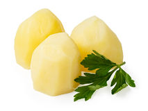 Boiled potato pieces with parsley Royalty Free Stock Photo