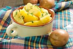 Boiled potatoe Stock Image