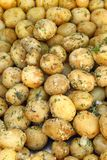 Boiled potatoes with butter and garnished with dill Royalty Free Stock Image
