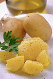 Boiled potatoes Royalty Free Stock Images