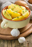 Boiled potatoes with dill Stock Image