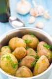 Boiled potatoes with fresh dill Royalty Free Stock Photos