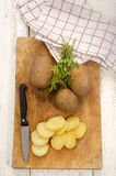Boiled potatoes are prepared as fried potatoes Royalty Free Stock Photography