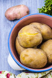 Boiled potatoes in their skins Royalty Free Stock Images