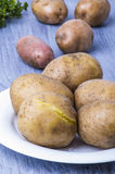 Boiled potatoes in their skins Stock Photo