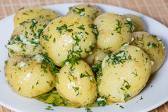 Boiled potatoes Royalty Free Stock Photos