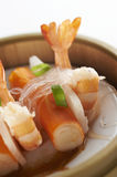 Boiled prawns Royalty Free Stock Images