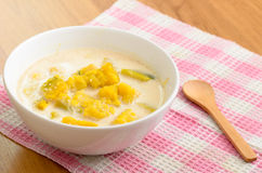 Boiled Pumpkin in coconut milk Stock Image