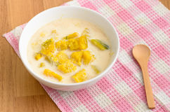 Boiled Pumpkin in coconut milk Royalty Free Stock Photo