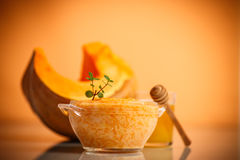 Boiled pumpkin with rice and honey Royalty Free Stock Photography